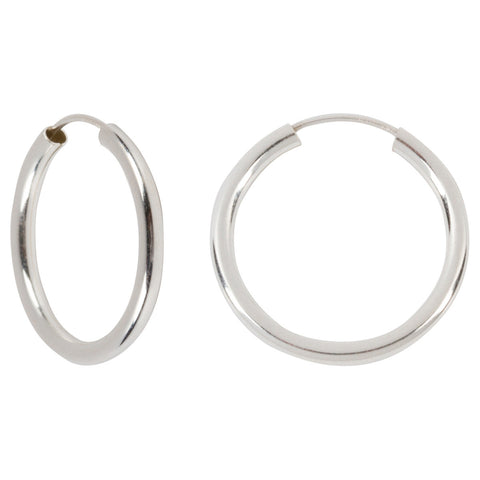 "Sterling Silver Hoops - .75"" Diameter"