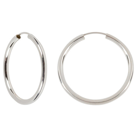 "Sterling Silver Hoops - 1.25"" Diameter"