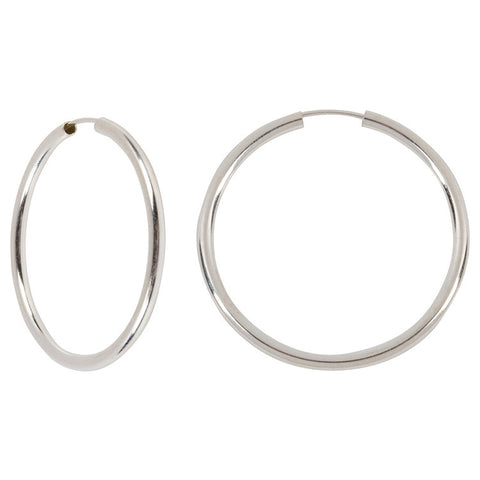 "Serling Silver Hoops - 1.5"" Diameter"