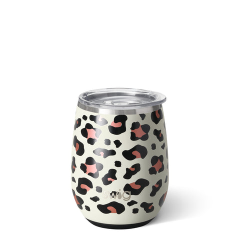 14oz Stemless Cup Dishwasher Safe - Luxy Leopard