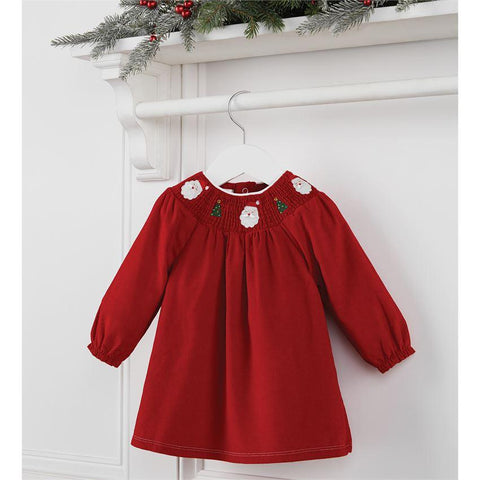 Traditional Smocked Christmas Dress