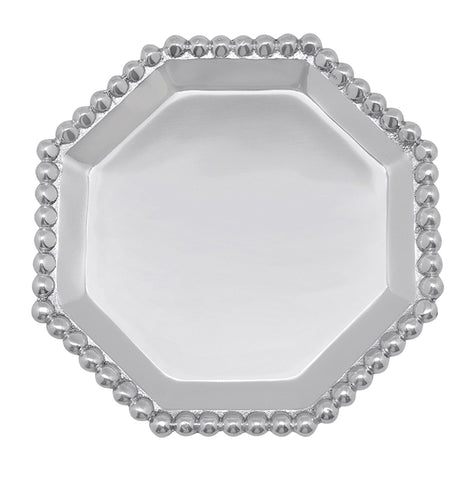 Pearled Octagonal Canape Plate