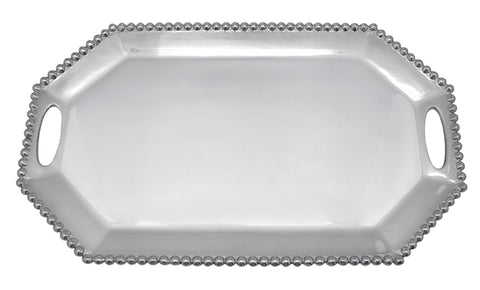 Pearled Long Rectangle Octagonal Tray