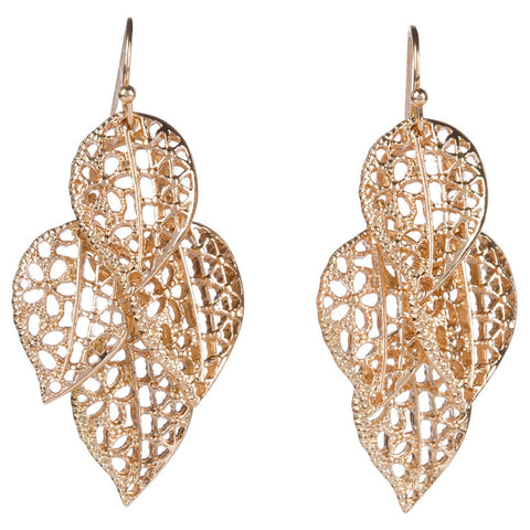 Leaf Cluster Filigree Earring