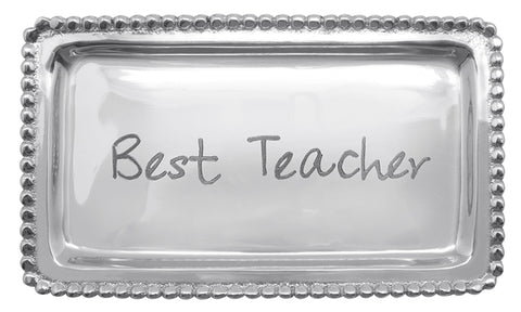 BEST TEACHER Beaded Tray