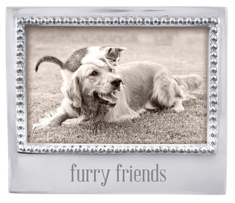 FURRY FRIENDS Beaded 4x6 Frame