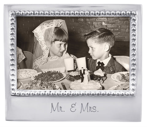 MR. & MRS. Beaded 4x6 Frame