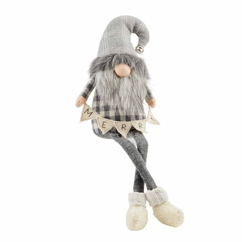 Gray Deluxe Dangle Gnome Small