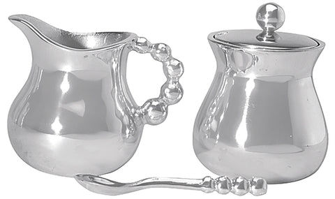 Pearled Cream & Sugar Set