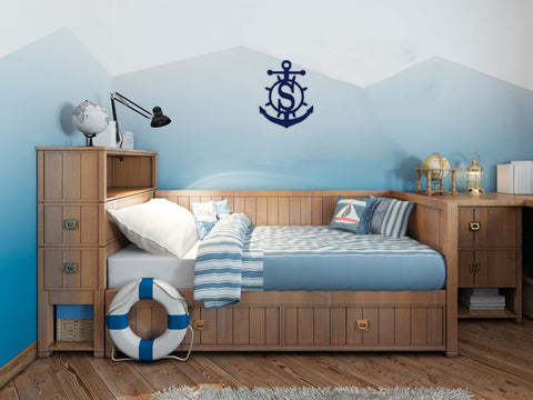 Wood Monogram-Anchor