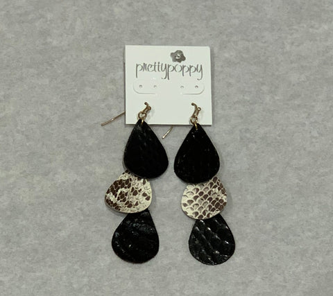 Layered Snakeskin Earrings