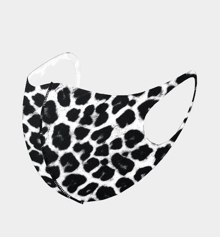 3D Fit Mask-Black Leopard