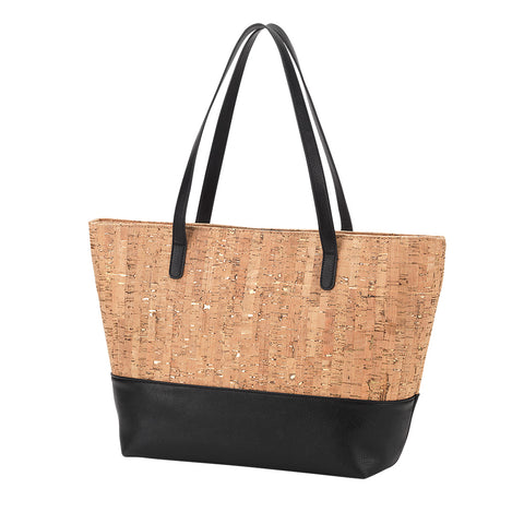 Cork Carry All Purse with Black Trim