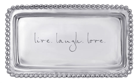 LIVE.LAUGH.LOVE Beaded Tray