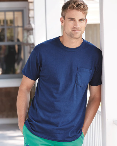 Hanes, Tagless T-Shirt with a Pocket