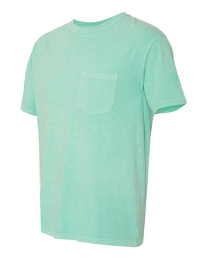 Comfort Colors, Garment Dyed Heavyweight Ringspun Short Sleeve Shirt with a Pocket - $$$