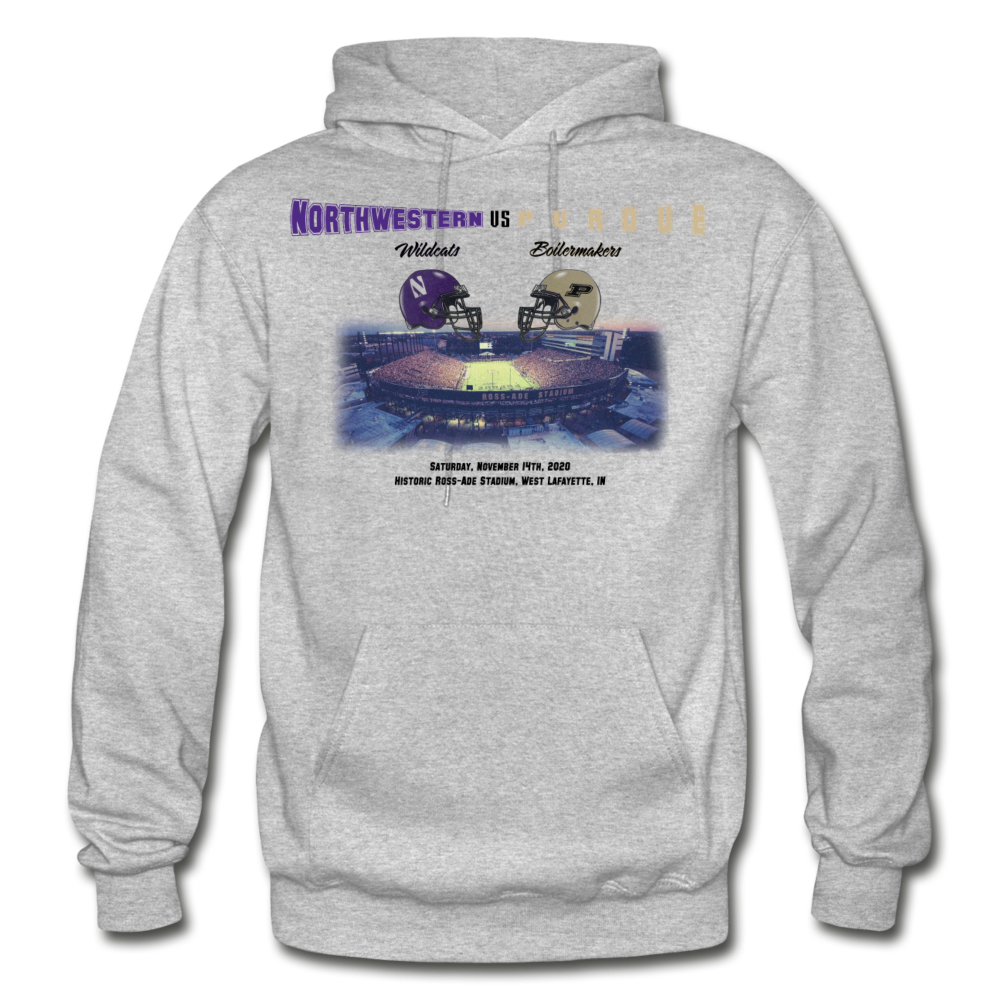Northwestern vs Purdue Gameday Hoodie - heather gray