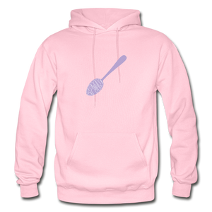 Spoon's Spoon Hoodie w/ Have a Knife on Back - light pink
