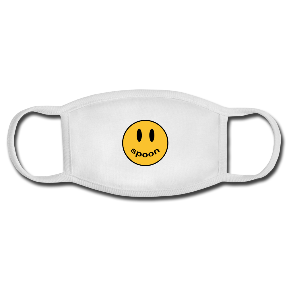 Spoon Smiley Mask - white/white
