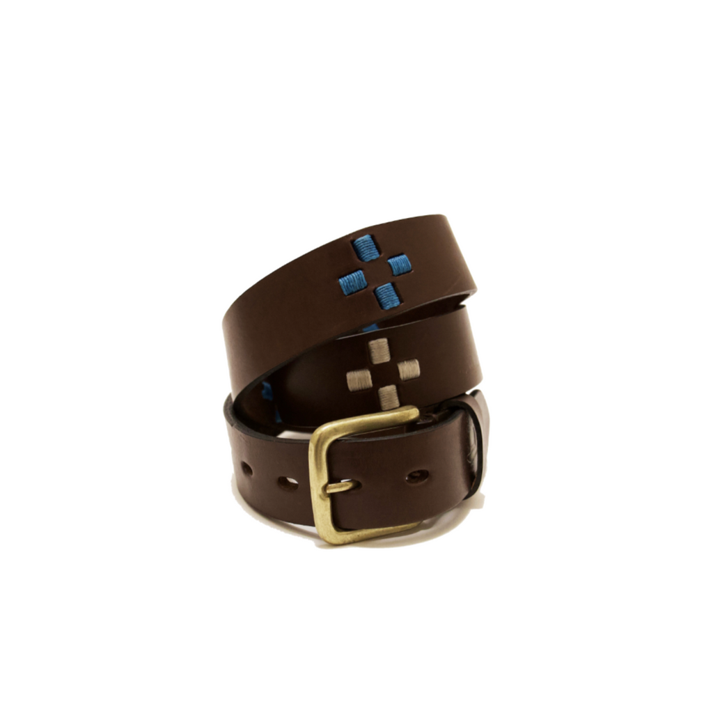 NF Cross Belt - Brown/Turquoise