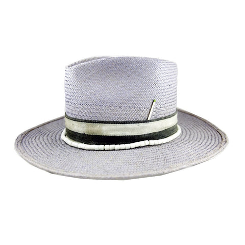 Purple Tear Drop Straw Fedora