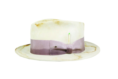 """Corcovado"" Tear Drop Fedora in Bone"