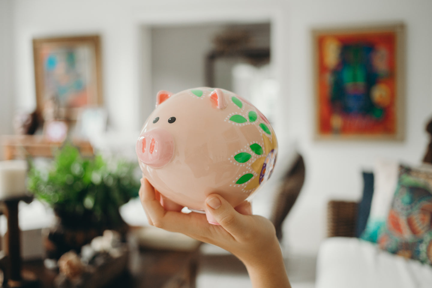 Flowered Piggy Banks