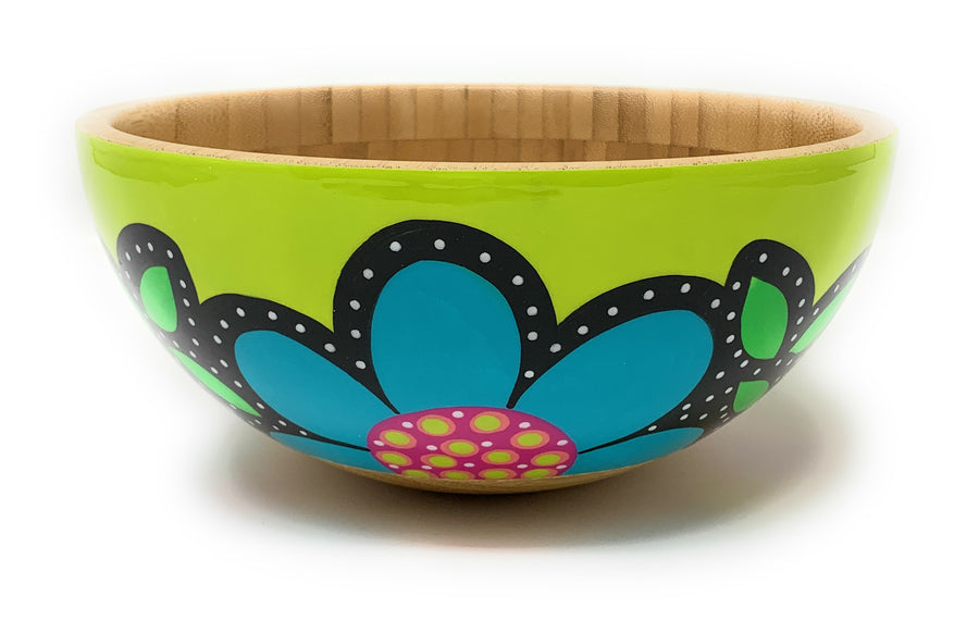 Serving Bowl - Lime Green - Art by Mele