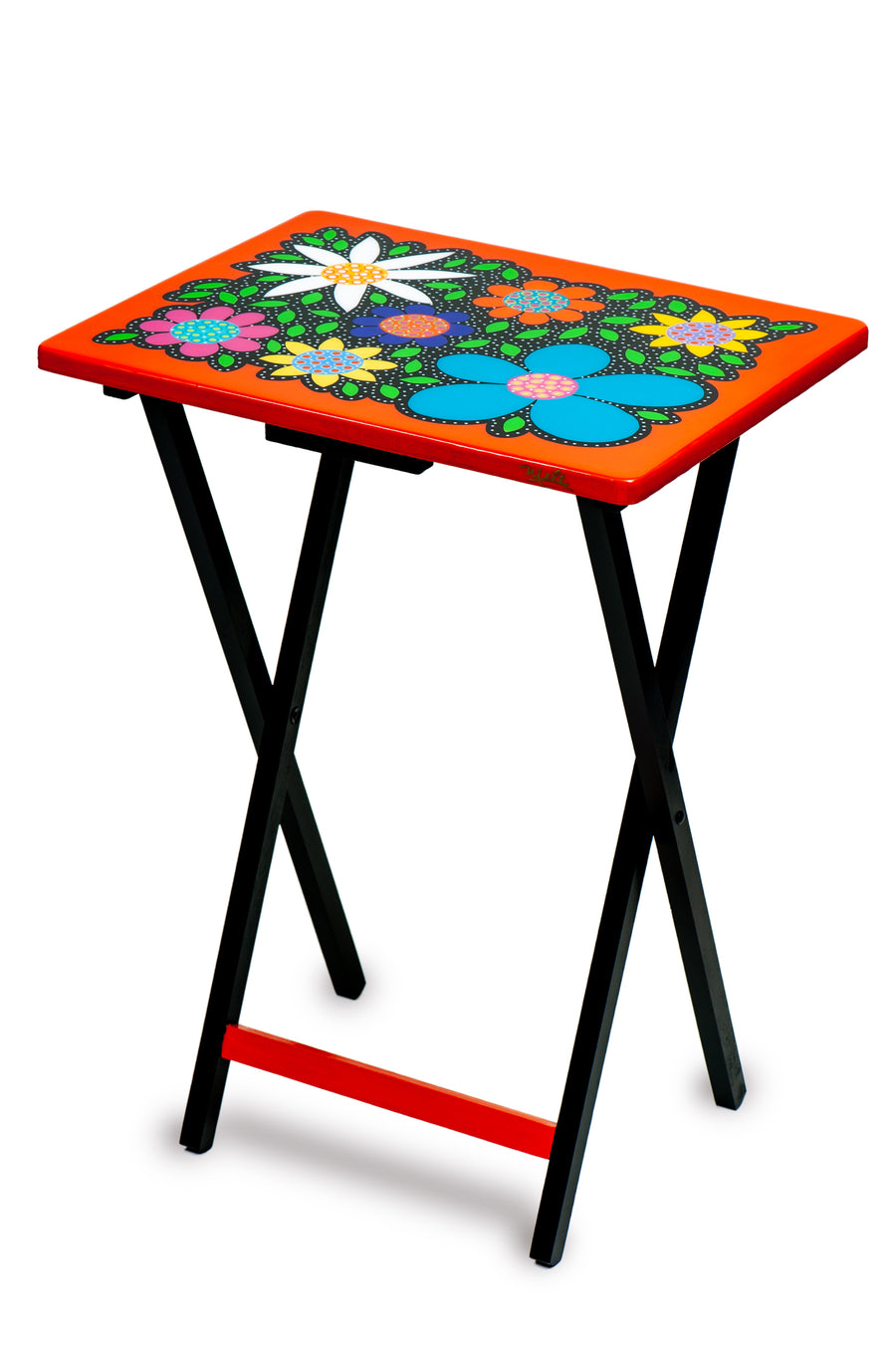 Folding Table - Orange - Art by Mele