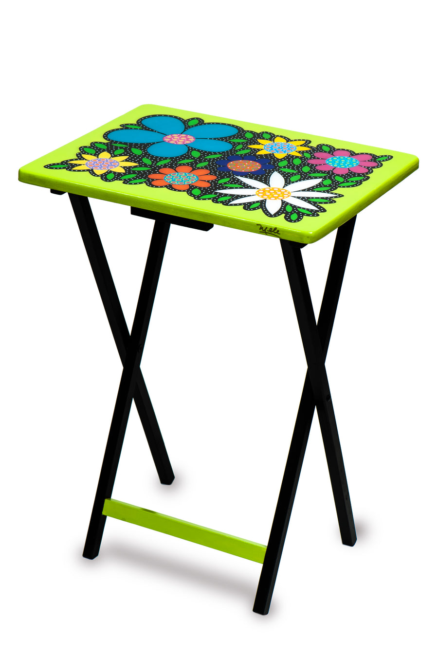 Folding Table - Lime Green - Art by Mele