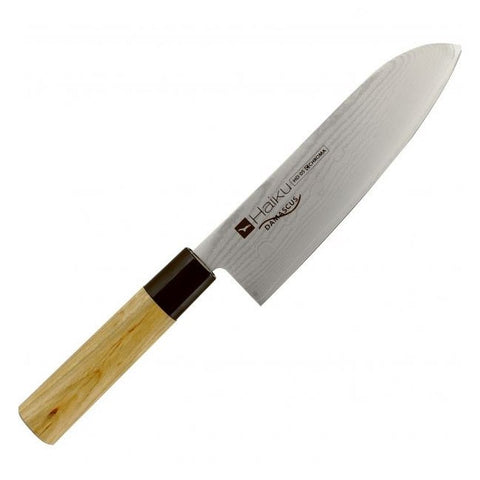 "Image of Chroma Haiku Damascus 7.25"" Santoku Knife - Premium Chef Knives"