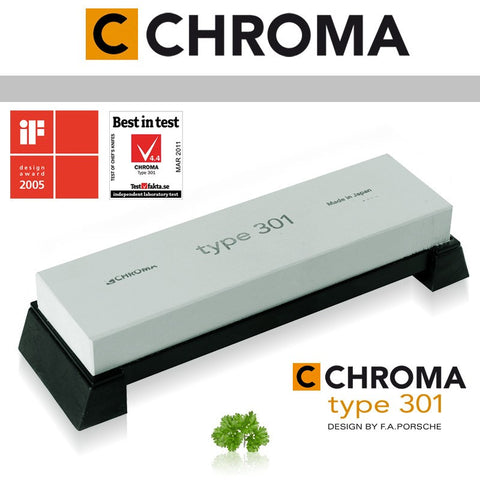 Chroma Type 301 # 800 Medium Grit Whetstone - Premium Chef Knives
