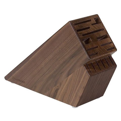 Messermeister 16 Slot Walnut Wood Knife Block - Premium Chef Knives