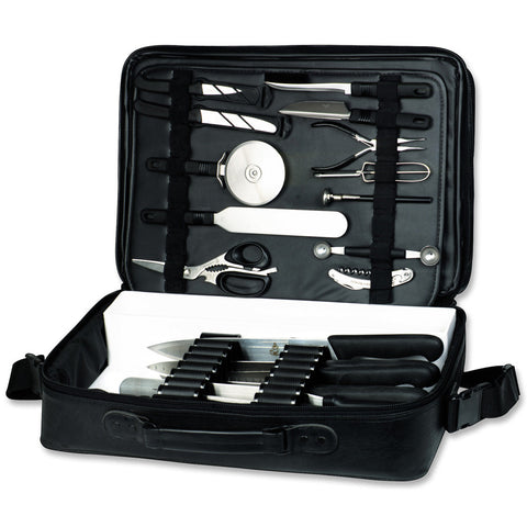 Messermeister 25 Pocket Knife Attache Case - Black - Premium Chef Knives