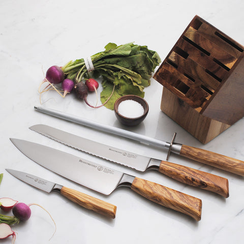 Messermeister Oliva Elite 5 Piece Gourmet Knife Set - Premium Chef Knives