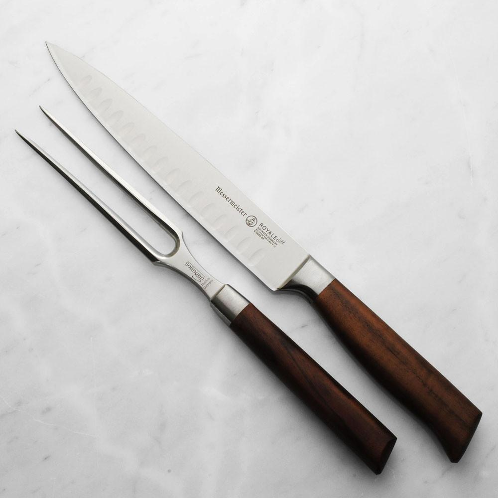 Messermeister Royale Elite Kullenschliff 2 Piece Carving Knife Set - Premium Chef Knives
