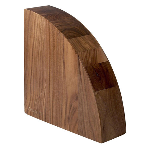 Magnetic Knife Block - Messermeister 10 Knife Walnut Magnet Block