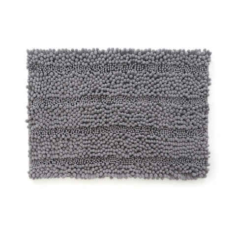 "Bath Mat | Ultra Plush Jumbo Chenille (Striped) | 21"" x 34"""