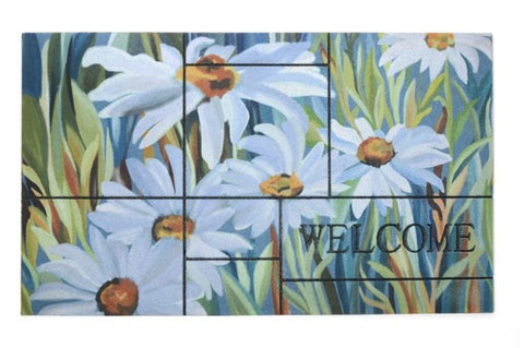 Door Mat | Recycled Crumb Rubber (Flocked) | Daisies