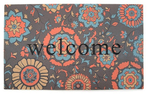 Door Mat | Recycled Crumb Rubber (Flocked) | Medallion