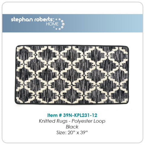 "Stephan Roberts® | Bath Mat | Knitted Loop Pile | 20"" x 39"" 
