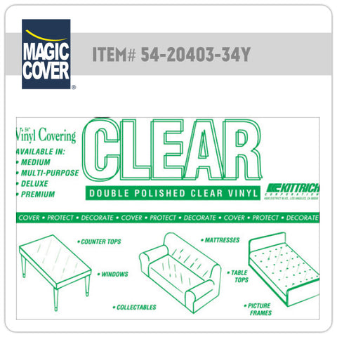 "Magic Cover® | 54"" Medium Clear Bulk Roll (Non-Adhesive)"