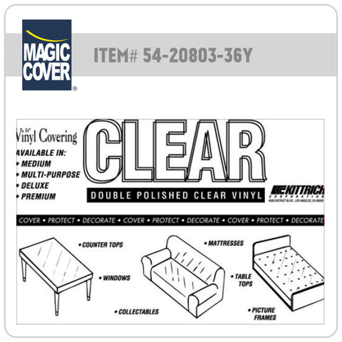 "Magic Cover® | 54"" Multipurpose Clear Bulk Roll (Non-Adhesive)"