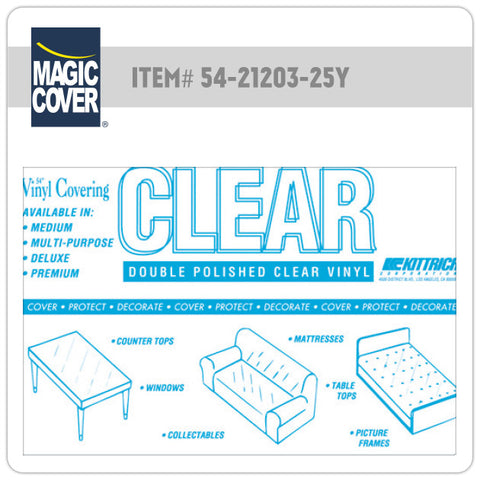 "Magic Cover® | 54"" Deluxe Clear Bulk Roll (Non-Adhesive)"