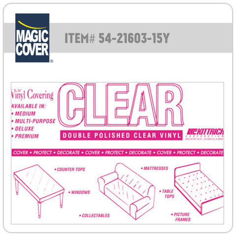 "Magic Cover® | 54"" Premium Clear Bulk Roll (Non-Adhesive)"