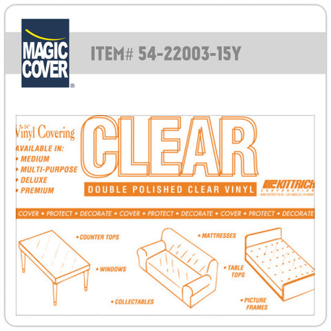 "Magic Cover® | 54"" Super Clear Bulk Roll (Non-Adhesive)"