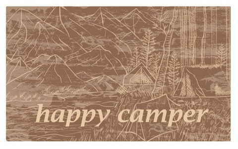 RV/Camping | Accent Mat - Textilene | Happy Camper