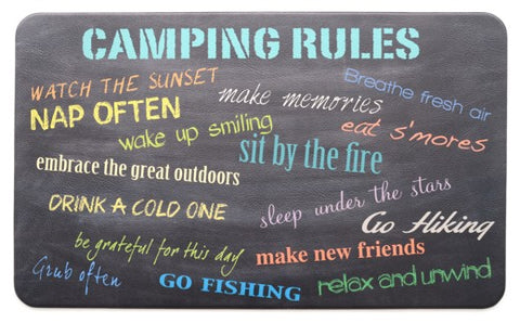 RV/Camping | Kitchen Mat - Designer Comfort | Camping Rules