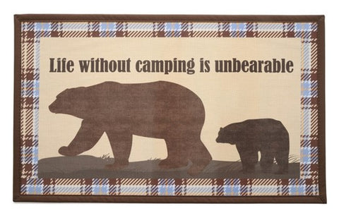RV/Camping | Accent Mat - Textilene | Life Without Camping is Unbearable
