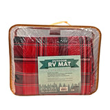 RV/Camping | Area Mat - Textilene (with Grommets) | Red Plaid